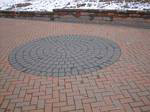 Omnistone driveway with circle
